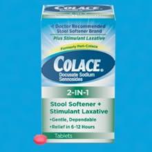 Colace 2-In-1 Stool Softener + Stimulant Laxative