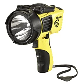 Streamlight 44900 Waypoint LED High-Performance Pistol-Grip Spotlight, yellow, front view.