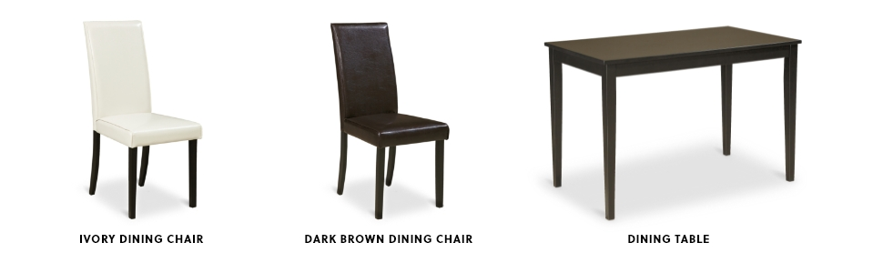 dining chair black white table