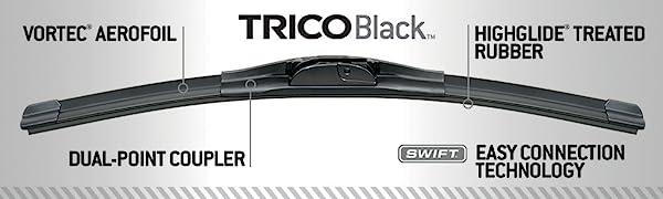 TRICO Black High Performance Premium Beam Wiper Blades Pack of 2 24 21