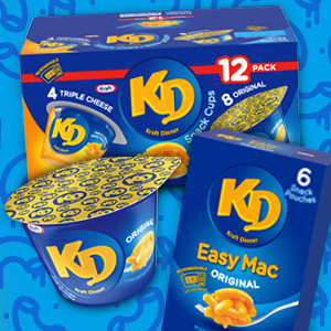 KD, Kraft dinner snack, Microwave snack, Kraft dinner microwave, macaroni and cheese, mac n' cheese