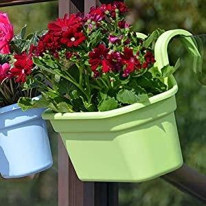 hanging pots for railing