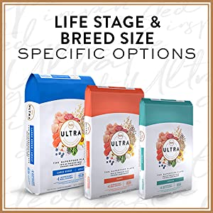 life stage, breed size, specific