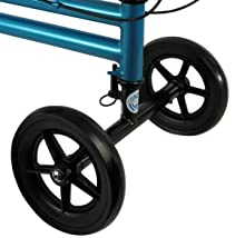 Four 7.5 inch wheels provide stability and control