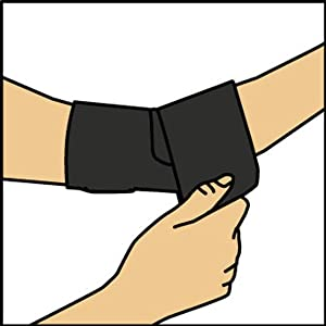 Pull brace up and align over elbow.