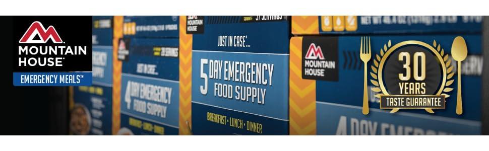 mountain house emergency food; mountain house emergency kits