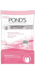 ... Ponds Moisture Clean Towelettes Luminous Clean 28 ct