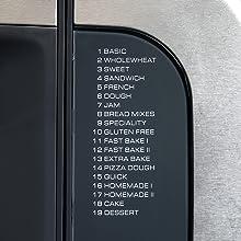 Mit den 19 vorgespeicherten Programmen können Sie nicht nur viele verschiedene Brotsorten backen