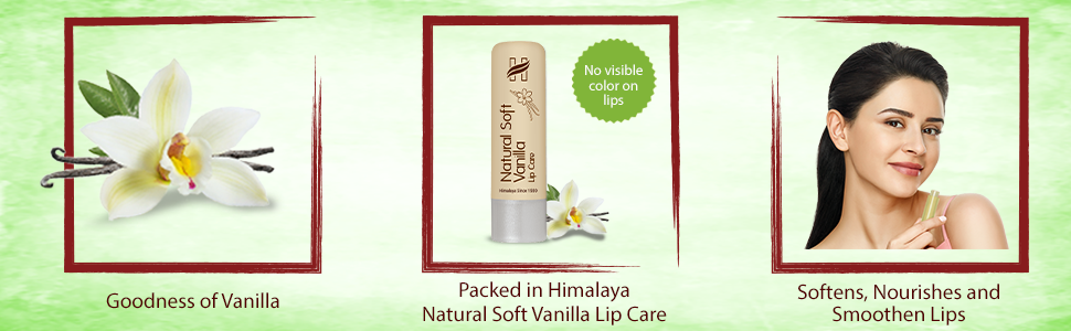 Goodness of Vanillal softens, nourishes and smoothen lips