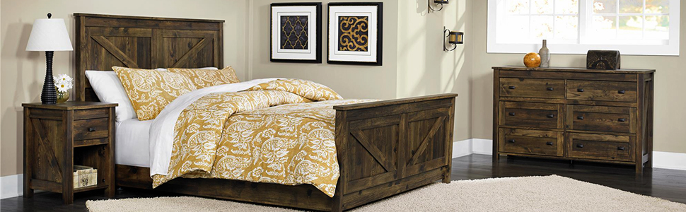 rustic;bedroom furniture;nightstand;headboard;dresser;cabinet;tv stand;bedroom set;coffee table;room