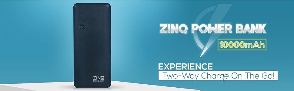 Zinq Power Bank 10000mAh Two Way Charging