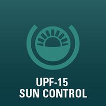 UPF-15 sun protection