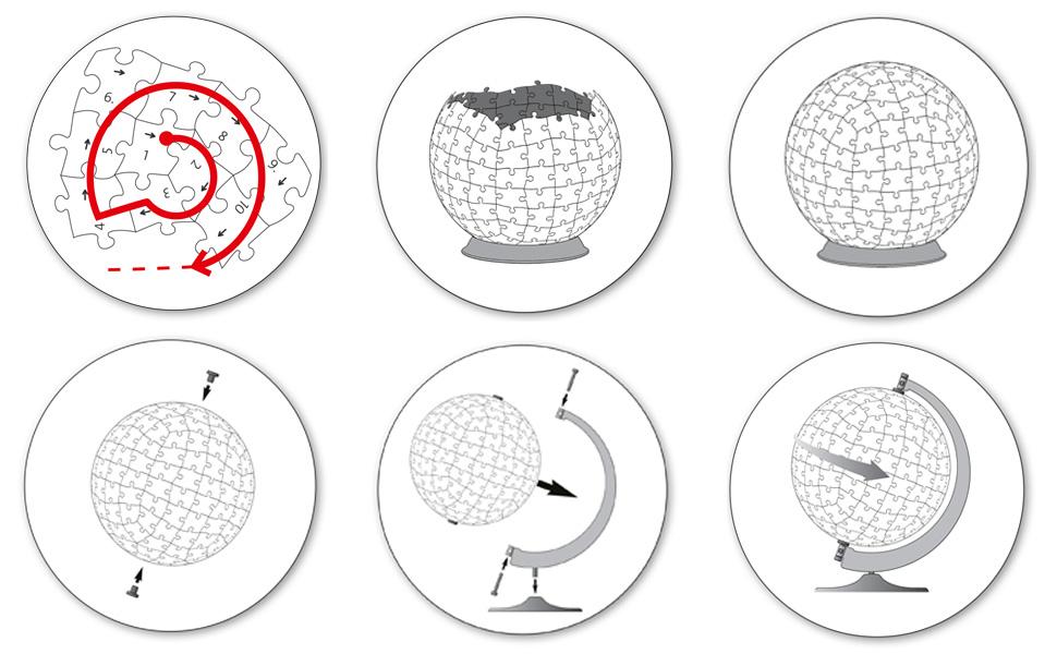 montage puzzle 3d ravensburger globe 12339