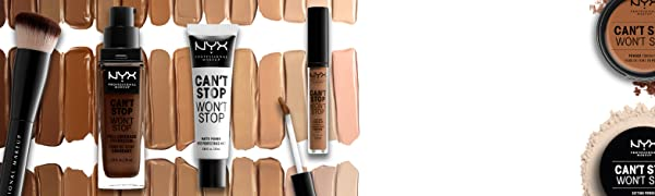 NYX professional makeup can't stop won't stop foundation concealer primer powder