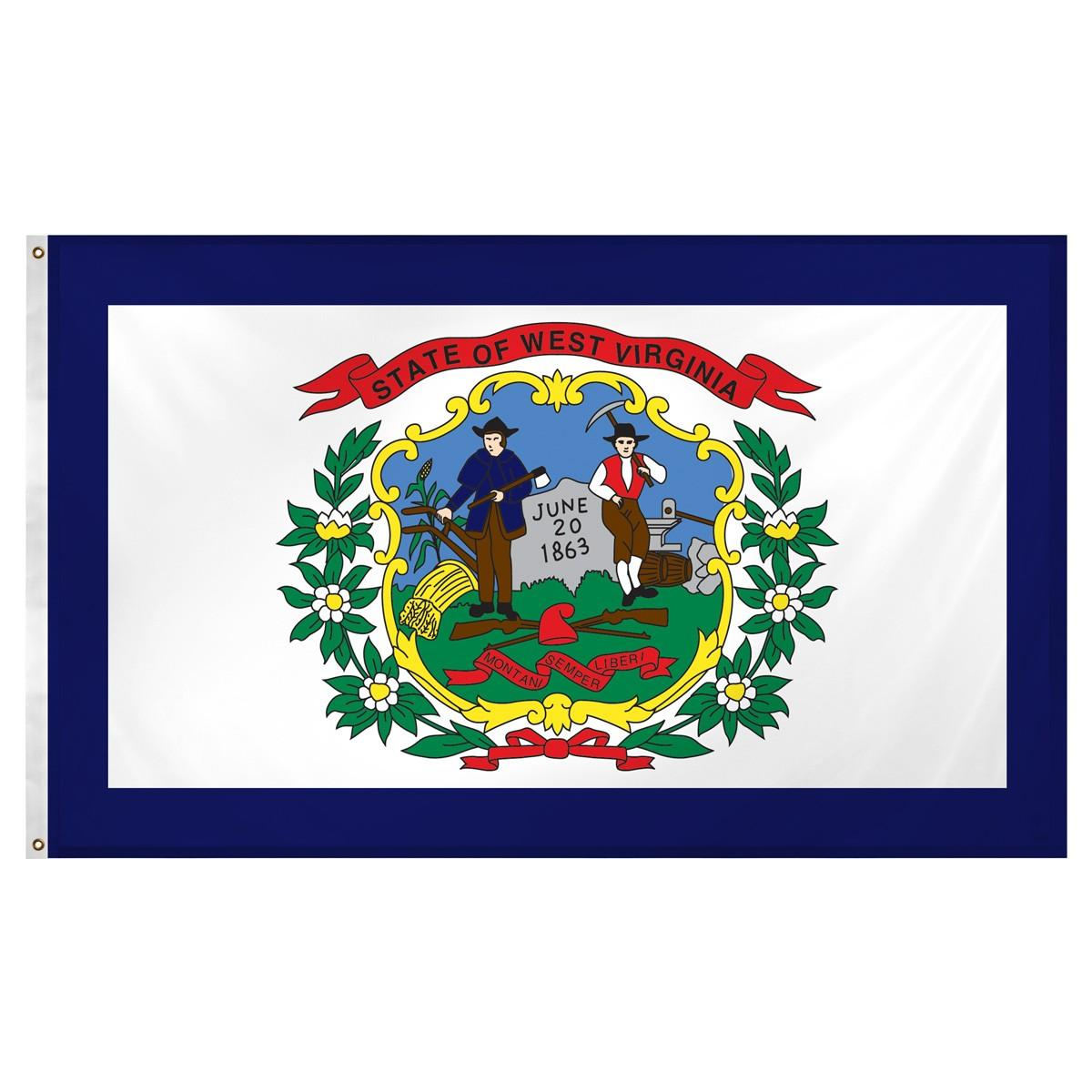 2x3 West Virginia Flag 2/'x3/' House Banner grommets super polyester