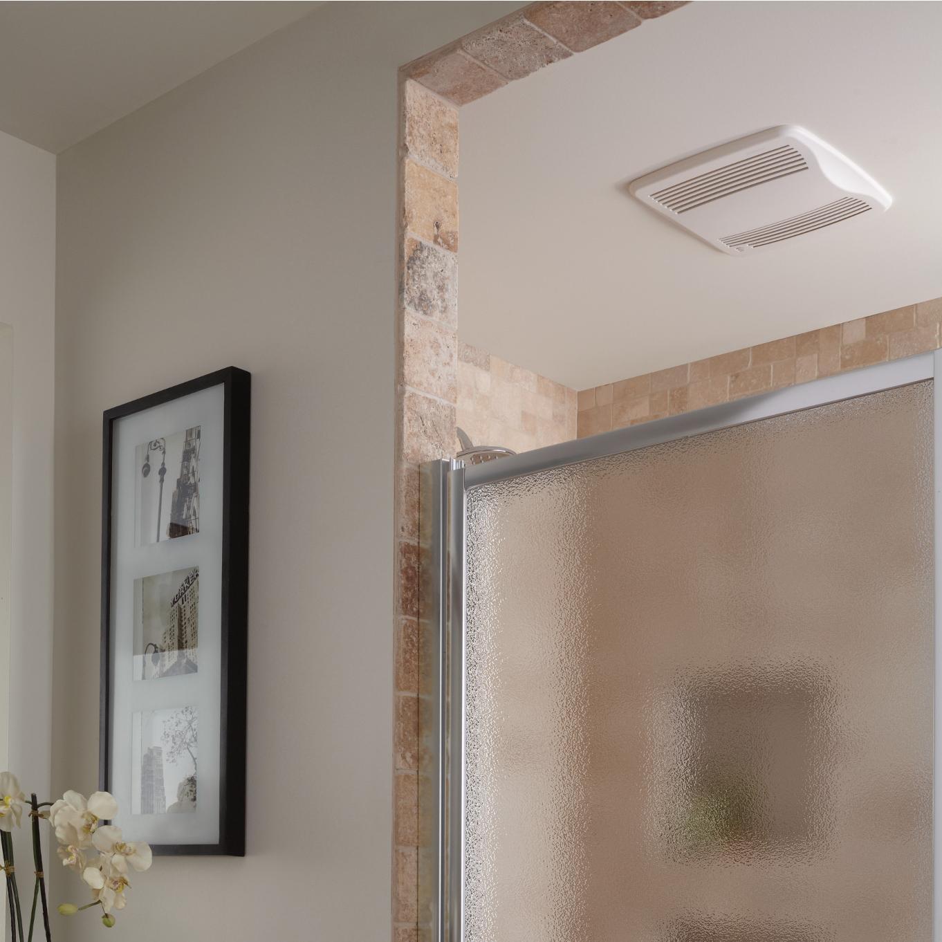 Broan QTXE110S Ultra Silent Humidity Sensing Auto On/Off Bath Fan