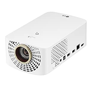 LG HF60LA LED Full HD Cinebeam Projector with Smart TV and Bluetooth Sound Out (2019 Model), White