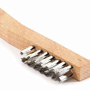 """Victor Firepower 1423-1442 Stainless Steel Wire Brush 10/"""" w Wooden Shoe Handle"""