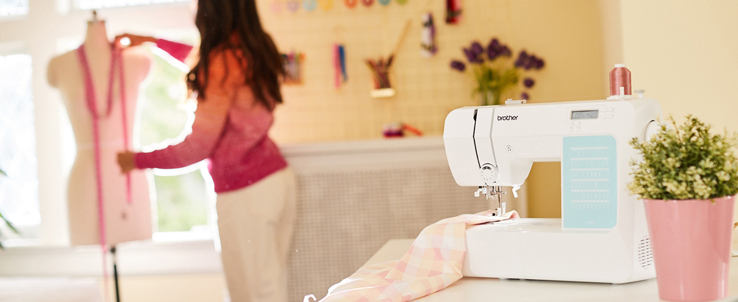 lifestyle image with sewing machine