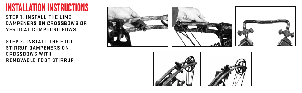 TenPoint Crossbows Universal Limb and Foot Stirrup Dampening Package Installation Instructions