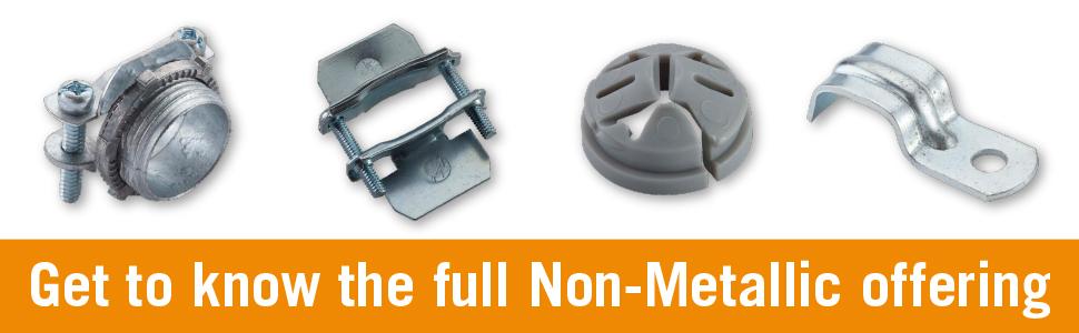 """HALEX 20511 5 Count 3//8/"""" Zinc Clamp Connector for sale online"""