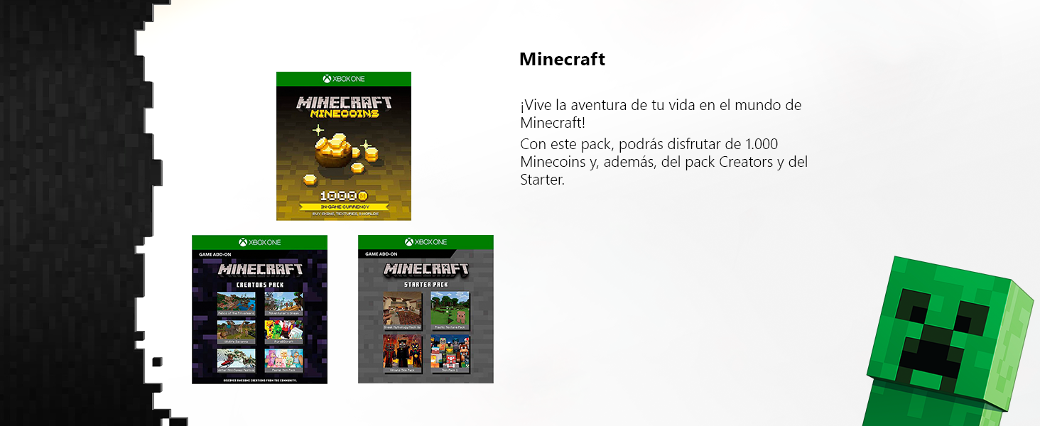Xbox One S - Consola de 1 TB, color blanco + Minecraft Creators ...