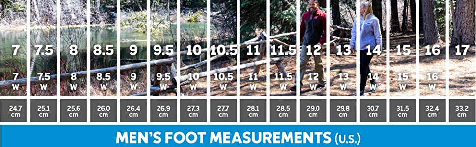 Men's Hiking Shoe sizing