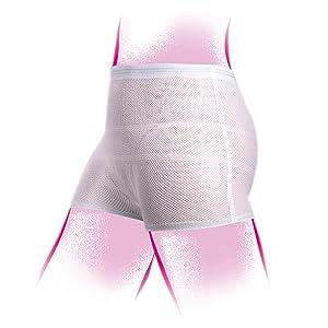 Tigex 5 Slips filet extensibles pour femmes blancs - taille unique