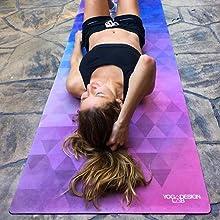 Amazon.com: Yoga Design Lab la Combo Yoga Mat por Eco lujo ...