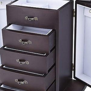 Amazon.com: Saganizer Cherry Wooden Jewelry Box Organizer