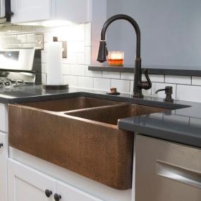 Copper, Sink, Sinkology, Kitchen, Farmhouse, Apron, Rockwell K2a 1005ND