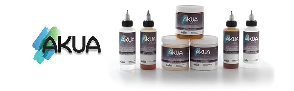 akua, intaglio, liquid pigment, printmaking ink, modifier, speedball
