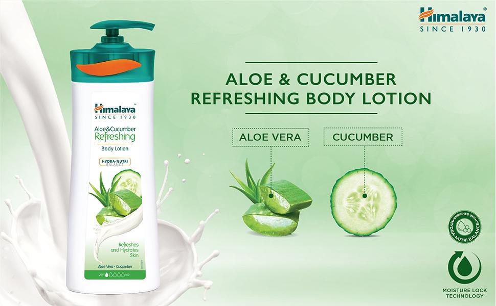 Himalaya Herbals Aloe and Cucumber Refreshing Body Lotion, 400ml