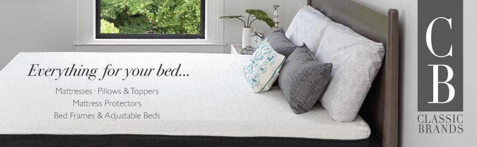 Classic Brands,mattress,pillows,toppers,frames,adjustable beds,memory foam, gel beds, bed in a box