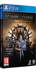 Ombre de la guerre;Mordor;jeu video;gold;edition;Terre du milieu;nemesis;extension;histoire;boitier