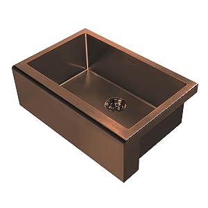 WHNPL3020, Copper, Sink, Kitchen, Noah Plus, Stainless Steel, Grid, Drain, Undermount