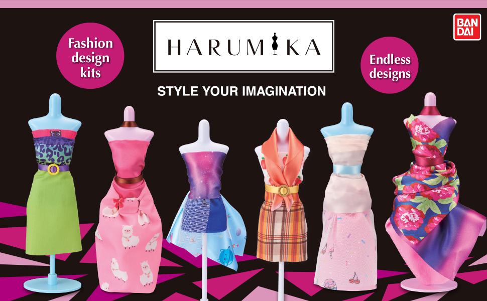 harumika; craft kit; style your imagination; dressmaking; fashion design kits; endless designs