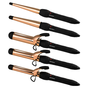 Silver Bullet Rose Gold Titanium Curling Irons