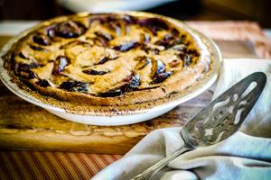 plum clafoutis, dessert