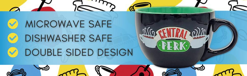 friends;friends mug;central perk cup;friends coffee cup;soup mug;friends merchandise;extra large mug