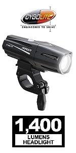 1100 lumen usb rechargeable bike light