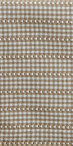 Farmhouse Gingham Collection Table Runner in the color Stone.