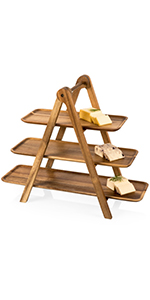 3 tier serving tray, serving platter, wood serving platter, cheese board, charcuterie boards