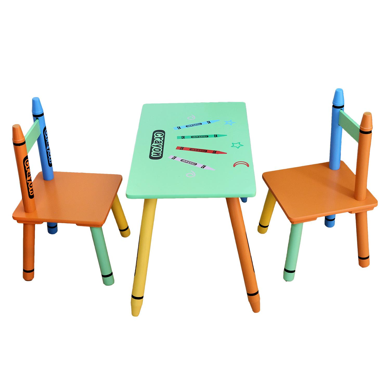 kiddi style childrens wooden table and chair set green baby. Black Bedroom Furniture Sets. Home Design Ideas