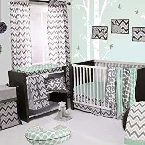 Bacati Ikat Mint/Grey Collection