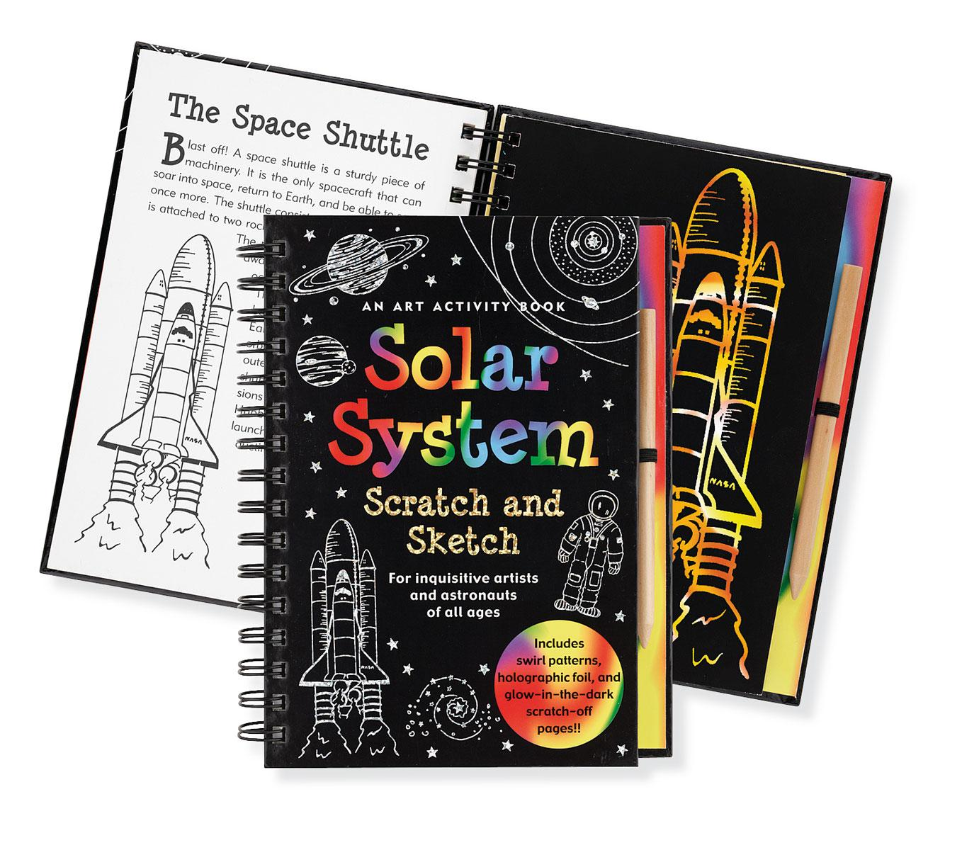 Solar System Scratch And Sketch An Activity Book For Inquisitive Wiring Books Young Artists Can Explore The