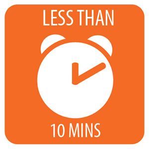 Mountain House ready in less than 10 minutes orange icon image