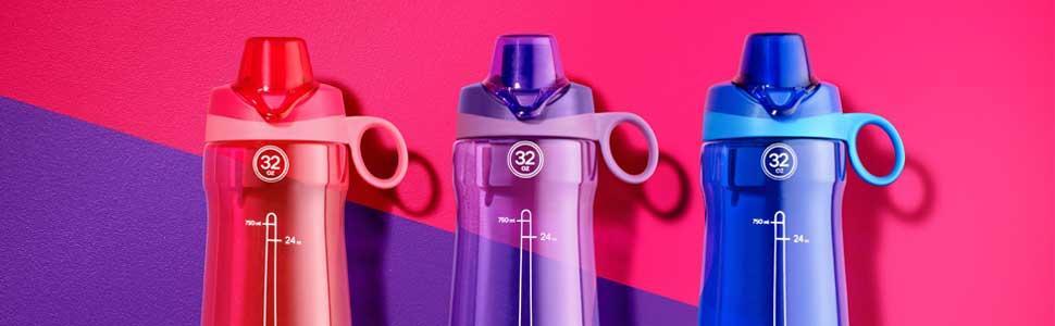 8b1d57bb17 Amazon.com : Pogo BPA-Free Plastic Water Bottle with Chug Lid, 32 oz ...