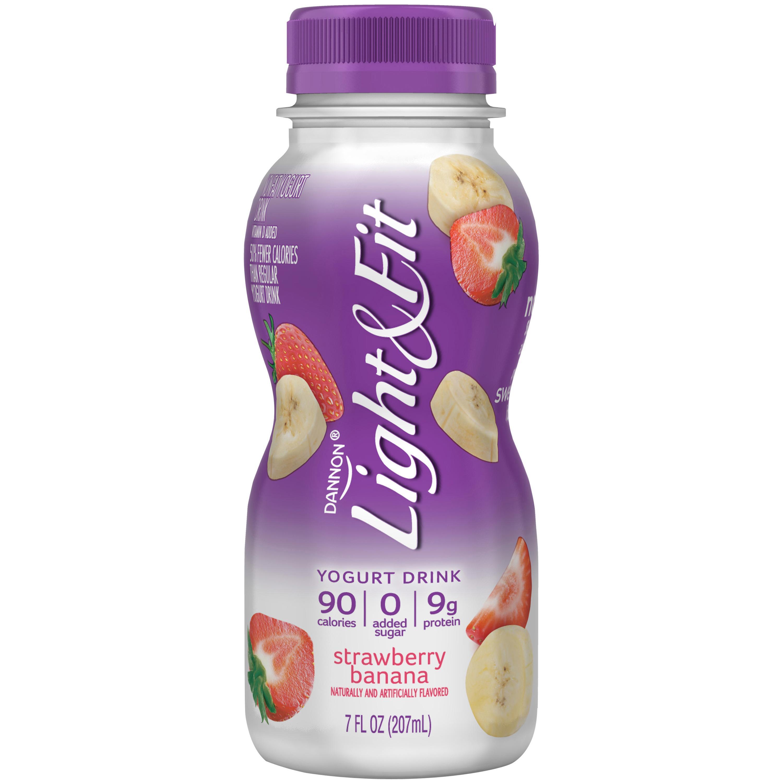 ... Dannon Light U0026 Fit Yogurt Drink, Strawberry Banana