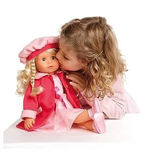 Babypuppen Bayer Design 94635 46cm Charlene Funktionspuppe mit Haaren und Schlafaugen günstig kaufen Babypuppen & Zubehör